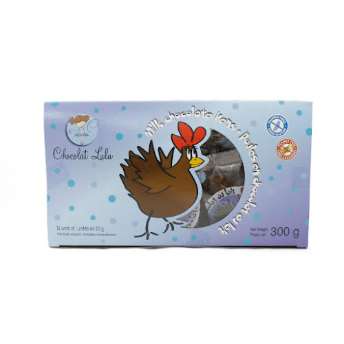 Douzaine de poules en chocolat Lulu