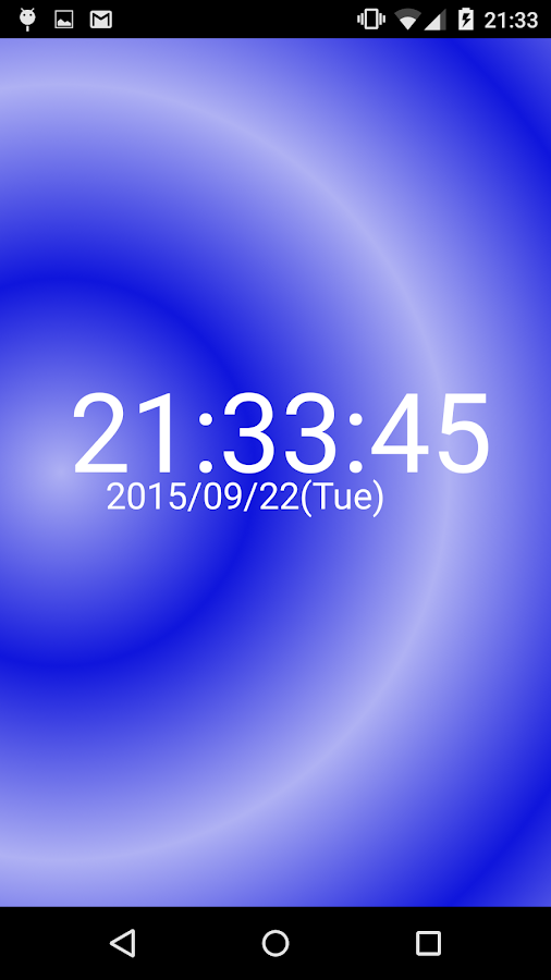 Digital clock Gradient pattern- screenshot