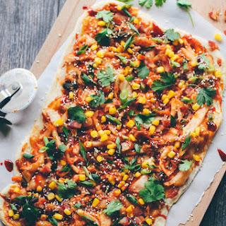 Kimchi, Bacon, and Corn Pizza