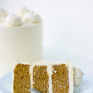 Pumpkin Spice Cake with Cream Cheese Ermine Buttercream