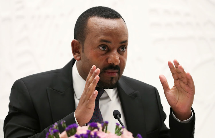 Ethiopia's Prime Minister Abiy Ahmed speaks at a news conference at his office in Addis Ababa, Ethiopia August 1, 2019
