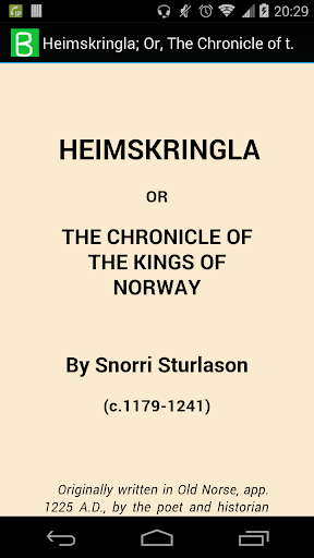 Heimskringla; Kings of Norway