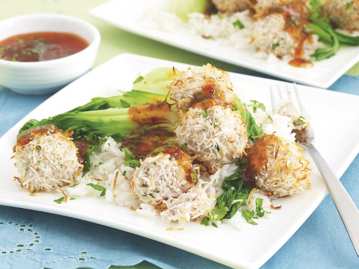Chicken, Cilantro and Coconut Meatballs with Sweet Chili Sauce Recipe