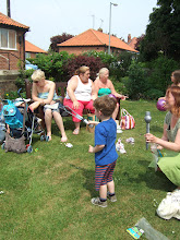 Photo: A family from Co. Durham enjoy the sunshine as they start a Holiday in Primrose Valley with a trip to the Funday.
