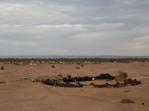 Photo: Bivouac Le Petit Prince and Taragalte Festival site in background