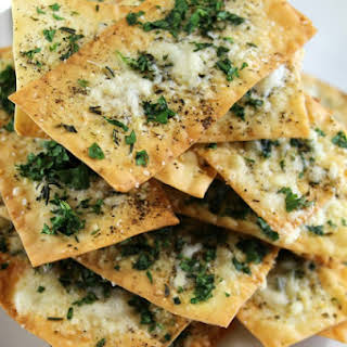 Parmesan and Thyme Wonton Crackers.