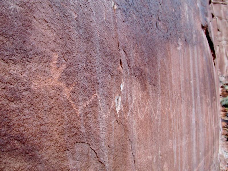 Photo: Horned snake petroglyph