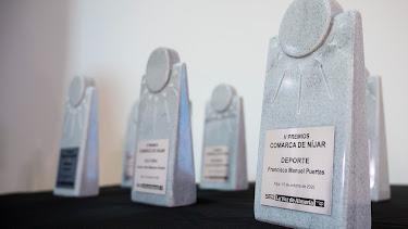 Galardones entregados en la gala de los V Premios Comarca de Níjar.