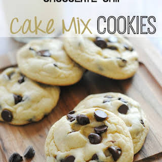 Chocolate Chip Cake Mix Cookies.