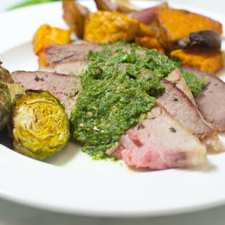 Leg Of Lamb With Mint Pesto