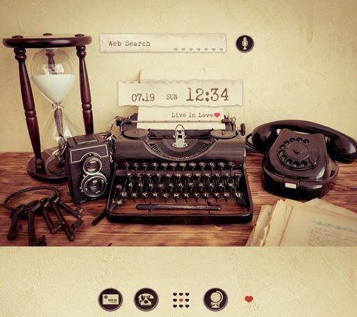 壁紙無料-Retro typewriter-オシャレきせかえ