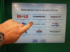 Photo: I ended up choosing the BI-LO card so I could buy some treats.