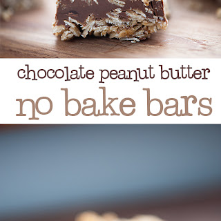 No Bake Chocolate Peanut Butter Oatmeal Bars.