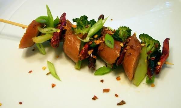 General Tso's Chicken Sausage On A Stick Recipe