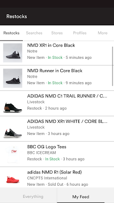 Restocks - screenshot