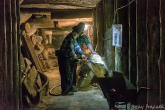 Photo: Na górniczej trasie można spotkać prawdziwych górników :-)