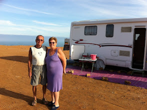 Photo: My friends Mr. and Mrs. Couloignere, somewhere between Tan-Tan and Layoune