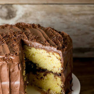 Yellow Cake with Fudge Frosting.