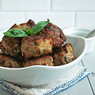 Caprese Meatballs (Low Carb & Gluten Free).