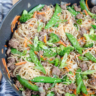 Ground Beef & Noodle Stir Fry Recipe