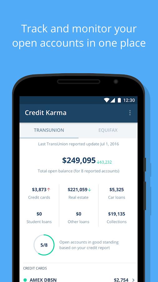 Screenshots of Credit Karma for iPhone