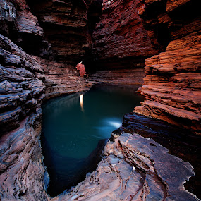 Kermits Pool, Karijini National Park, Western Australia by William Greenfield - Landscapes Waterscapes ( water, national park, karijini, pool, australia, rock, karijini national park, kermits )