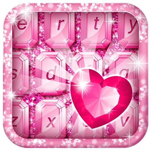 Diamond Glitter Keyboard Theme