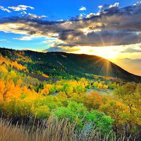 Autumn Sunset by Blaine Cox - Instagram & Mobile iPhone ( utah )