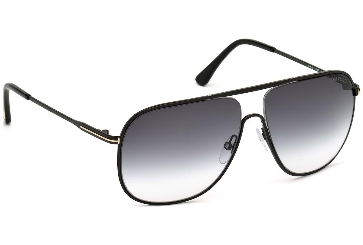 Tom Ford FT0451 C60 02B (matte black / gradient smoke) Sonnenbrillen auXs2FdTA4