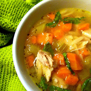 Italian Style Roasted Chicken and Orzo Soup