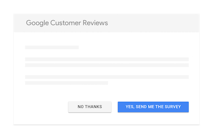 Google Customer Reviews Survey