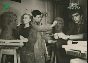 Photo: the College for Theatre Technicians in Warsaw (entered 1957)