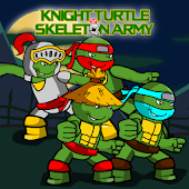 Knight Turtle VS Skeleton Army
