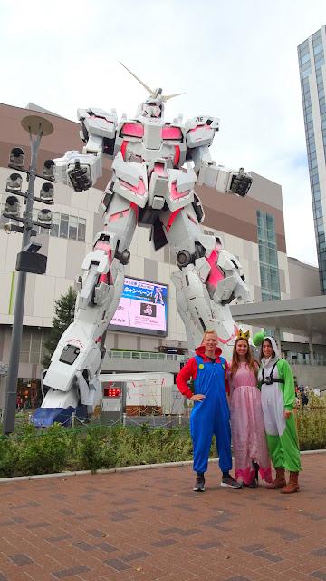 pitstop at Gundam Robot in Odaiba in Tokyo, Tokyo, Japan