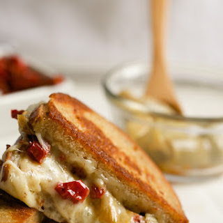 Grilled Cheese with Havarti, Sun Dried Tomatoes and Prosciutto.