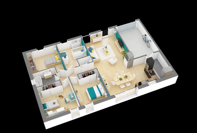 Vente Terrain + Maison - Terrain : 535m² - Maison : 91m² à Chemillé (49120)