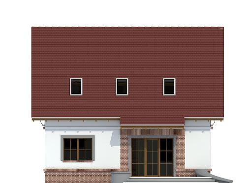 Sosnówka II bez garażu B - Elewacja tylna