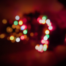 Lights of a Chrstmas tree  by Maria  Blumberg - Abstract Macro ( ligts colors tree )