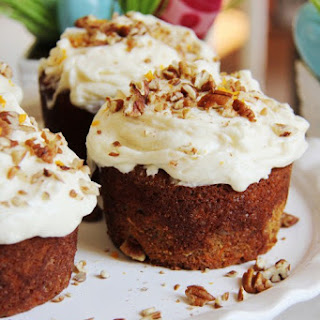 Mini Carrot Cakes with Orange Cream Cheese Frosting