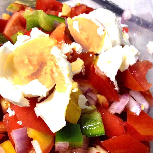 Salted Egg & Tomato Salad