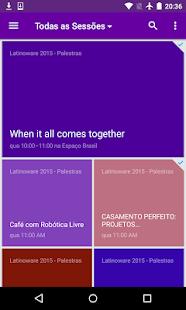 Latinoware 2015 screenshot