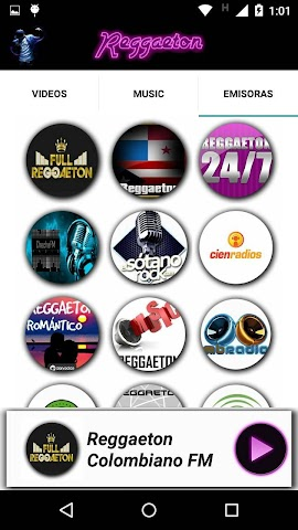 android Reggaeton Musica Videos Radio Screenshot 3