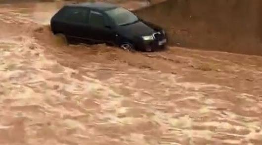 La rambla de Pulpí sale con fuerza tras las primeras lluvias