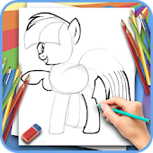 How to draw a beautiful pony