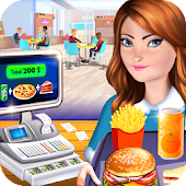 High School Café Cash Register Girl: Kids Game