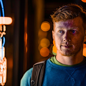 Neon light by Matt  Glenn - City,  Street & Park  Night (  )
