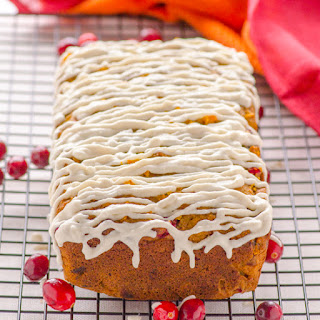 Healthy Glazed Cranberry Orange Bread