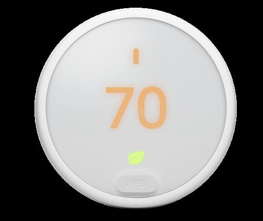 Einige Schlüsselfunktionen des Google Nest ThermostatE für Nordamerika tragen zu einer besseren Umweltverträglichkeit bei.