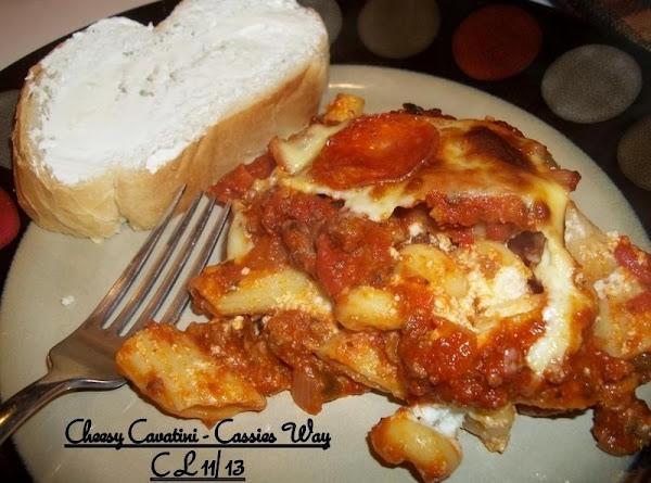 Cheesy Cavatini - Cassies Way Recipe