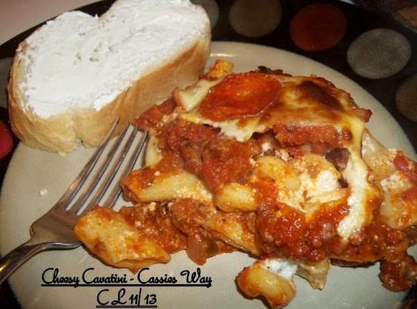 Cheesy Cavatini - Cassies Way Recipe